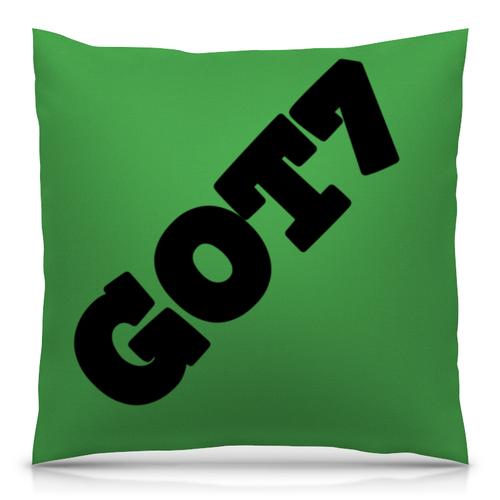 Подушка GOT7 зеленый и черный фон