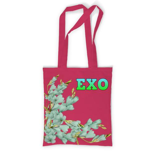 Сумка EXO зеленые цветы