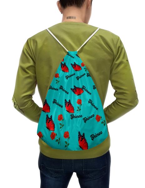Рюкзак-мешок Shinee бабочка и красная роза